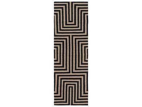 Surya Rivington 2'6'' x 8' Rectangular Charcoal & Olive Runner Rug