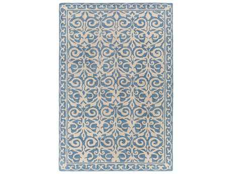 Surya Samual Rectangular Teal Area Rug