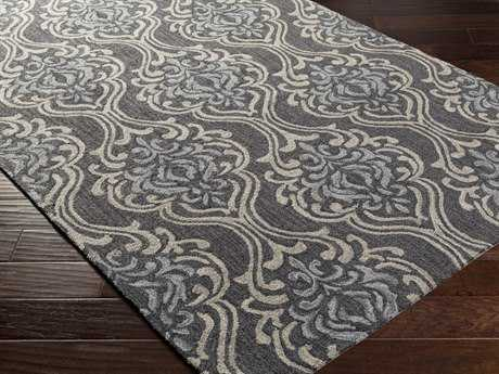 Surya Samual Rectangular Light Gray Area Rug