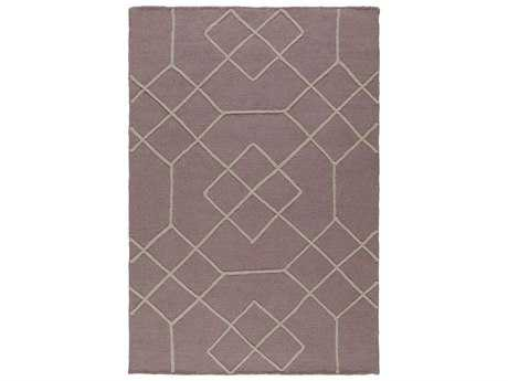 Surya Seabrook Rectangular Mauve Area Rug