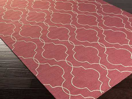 Surya Seabrook Rectangular Burgundy Area Rug