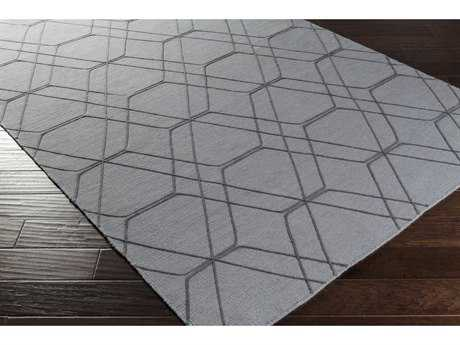 Surya Seabrook Rectangular Medium Gray & Pale Blue Area Rug