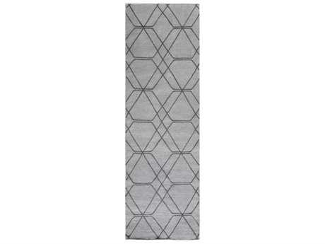 Surya Seabrook 2'6'' x 8' Rectangular Medium Gray & Pale Blue Runner Rug