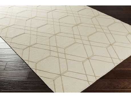 Surya Seabrook Rectangular Cream & Pale Blue Area Rug