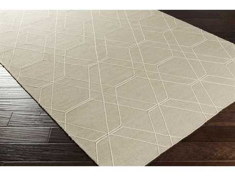 Surya Seabrook Rectangular Taupe & Pale Blue Area Rug