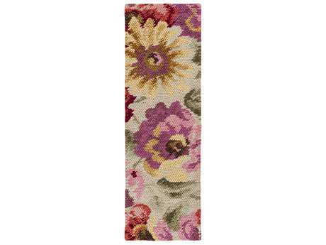 Surya Spring Bloom 2'6'' x 8' Rectangular Rust, Coral & Burgundy Runner Rug