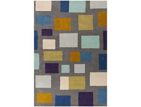 Surya Scion Rectangular Gray Area Rug
