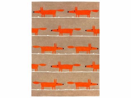 Surya Scion Rectangular Burnt Orange, Dark Brown & Khaki Area Rug SYSCI23REC