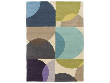 Surya Scion Rectangular Moss Teal & Violet Area Rug