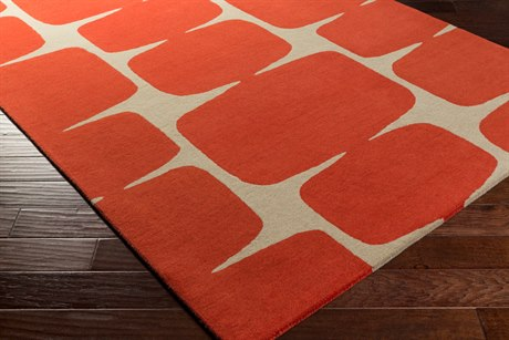 Surya Scion Rectangular Burnt Orange & Khaki Area Rug