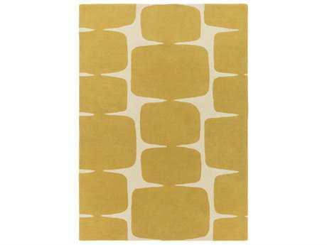 Surya Scion Rectangular Mustard & Cream Area Rug