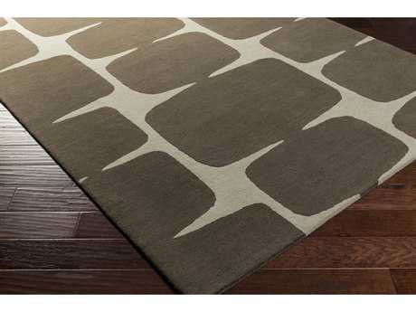 Surya Scion Rectangular Dark Brown & Khaki Area Rug