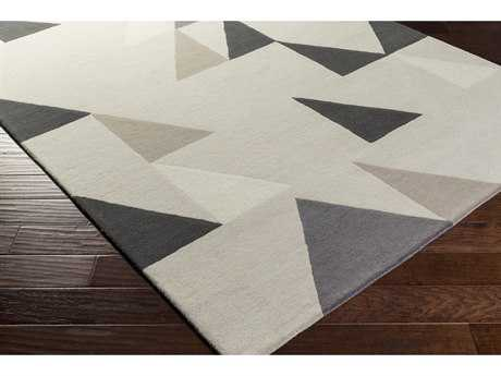 Surya Scion Rectangular Cream, Butter & Black Area Rug