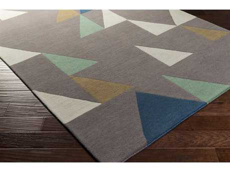 Surya Scion Rectangular Camel, Cream & Bright Blue Area Rug