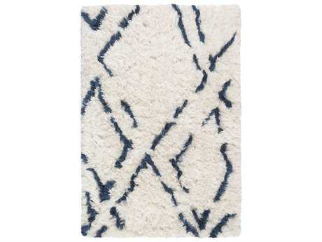 Surya Scout Rectangular Light Gray & Cobalt Area Rug