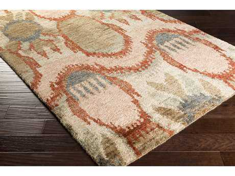 Surya Scarborough Rectangular Camel, Rust & Taupe Area Rug