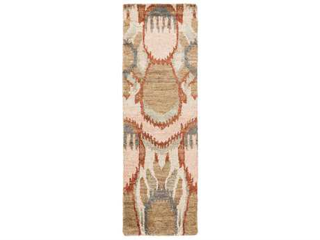 Surya Scarborough 2'6'' x 8' Rectangular Camel, Rust & Taupe Runner Rug