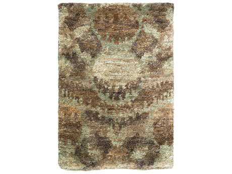 Surya Scarborough Rectangular Khaki, Dark Green & Tan Area Rug
