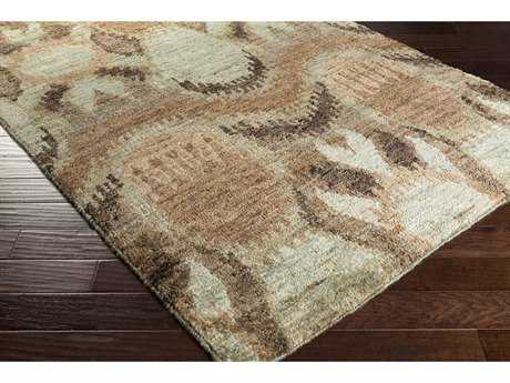 Surya Scarborough Rectangular Khaki, Dark Green & Tan Area Rug