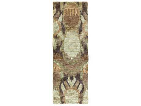 Surya Scarborough 2'6'' x 8' Rectangular Khaki, Dark Green & Tan Runner Rug