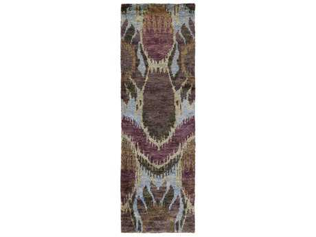 Surya Scarborough 2'6'' x 8' Rectangular Eggplant, Violet & Light Gray Runner Rug