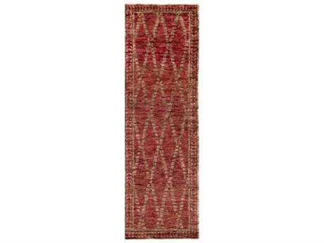 Surya Scarborough 2'6'' x 8' Rectangular Garnet & Khaki Runner Rug