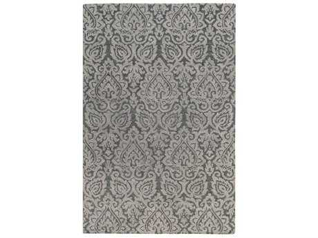 Surya Scott Rectangular Charcoal & Medium Gray Area Rug