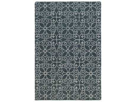 Surya Scott Rectangular Teal & Light Gray Area Rug
