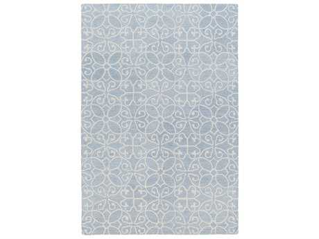 Surya Scott Rectangular Denim & Khaki Area Rug