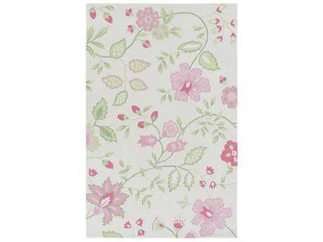 Surya Skidaddle Rectangular Rose, Bright Pink & Pale Pink Area Rug