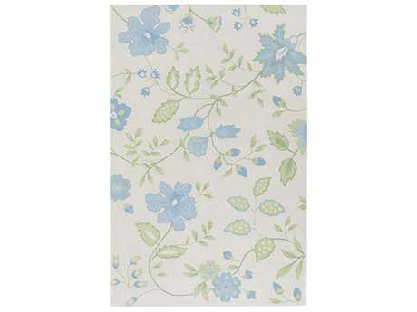 Surya Skidaddle Rectangular Sky Blue, Mint & Grass Green Area Rug