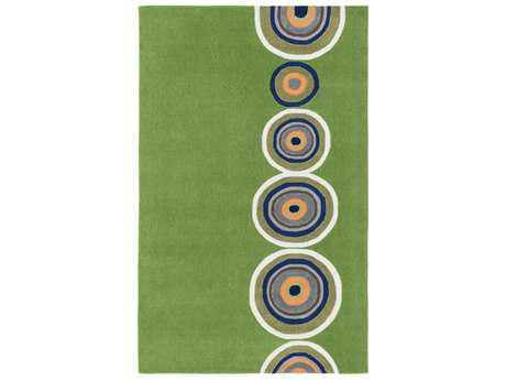 Surya Skidaddle Rectangular Grass Green, Bright Orange & Navy Area Rug