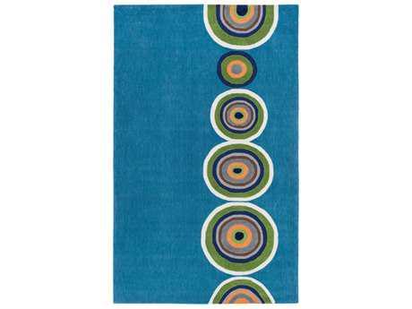 Surya Skidaddle Rectangular Bright Blue, Grass Green & Bright Orange Area Rug