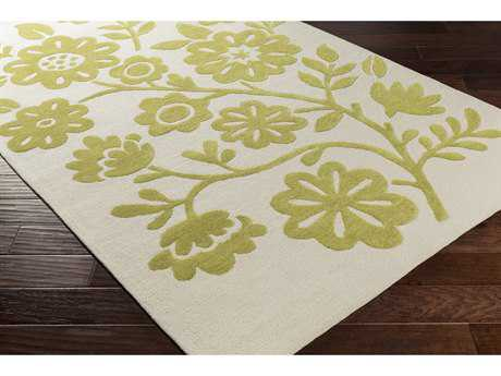 Surya Skidaddle Rectangular Grass Green & Ivory Area Rug