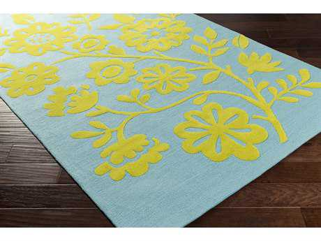Surya Skidaddle Rectangular Lime & Sky Blue Area Rug