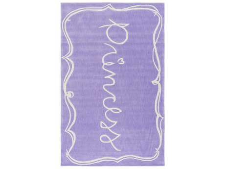 Surya Skidaddle Rectangular Bright Purple & White Area Rug