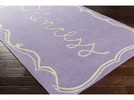Surya Skidaddle Rectangular Bright Purple & White Area Rug