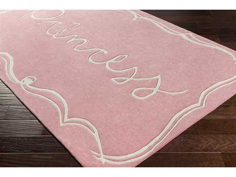 Surya Skidaddle Rectangular Bright Pink & White Area Rug