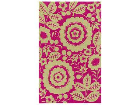 Surya Skidaddle Rectangular Bright Pink & Lime Area Rug