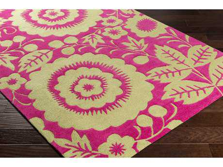 Surya Skidaddle Rectangular Bright Pink & Lime Area Rug