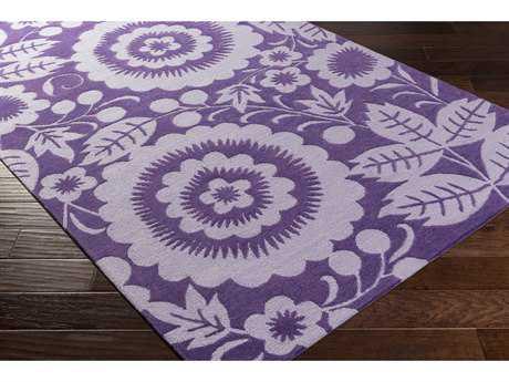 Surya Skidaddle Rectangular Violet & Lavender Area Rug