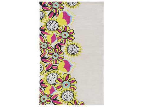 Surya Skidaddle Rectangular Khaki, Lime & Bright Pink Area Rug