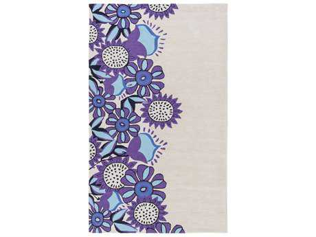 Surya Skidaddle Rectangular Khaki, Bright Purple & Navy Area Rug