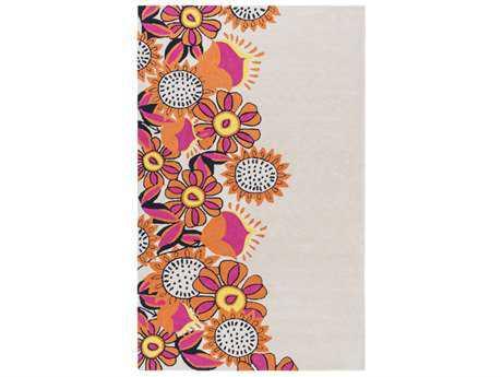 Surya Skidaddle Rectangular Khaki, Bright Orange & Bright Pink Area Rug