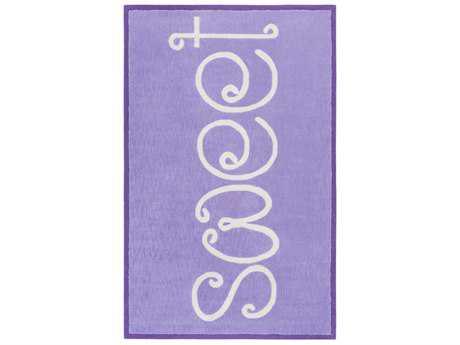 Surya Skidaddle Rectangular Bright Purple & Sea Foam Area Rug