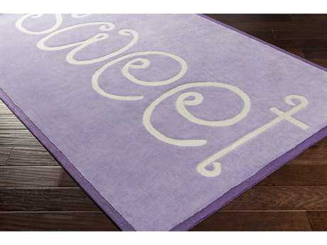 Surya Skidaddle Rectangular Bright Purple & Sea Foam Area Rug