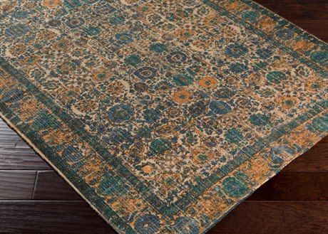 Surya Shadi Rectangular Khaki, Teal & Navy Area Rug