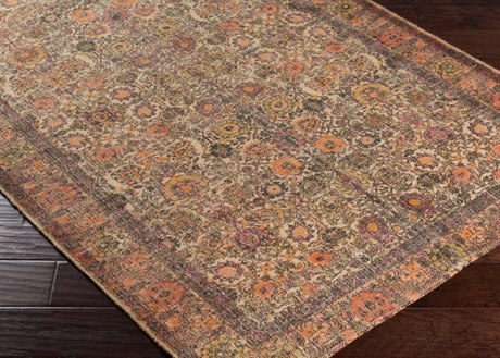 Surya Shadi Rectangular Khaki, Black & Burnt Orange Area Rug