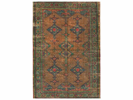 Surya Shadi Rectangular Khaki, Bright Orange & Emerald Area Rug SYSDI1009REC