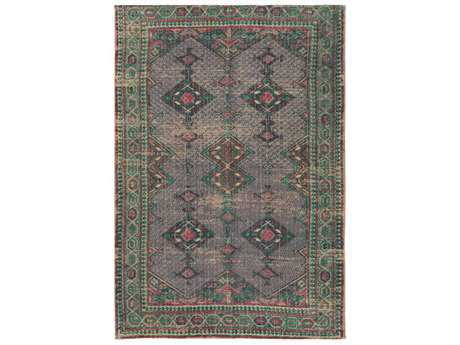 Surya Shadi Rectangular Khaki, Rose & Emerald Area Rug